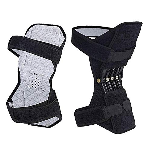 BIMZUC Spring Knee Brace, 2 Packs Power Knee Stabilizer Pads Knee Support, Knee Booster with...