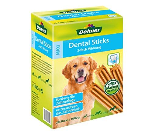 Dehner hondensnack, Dental Sticks Maxi, voor honden van meer dan 25 kg, 28 stuks, 1080 g