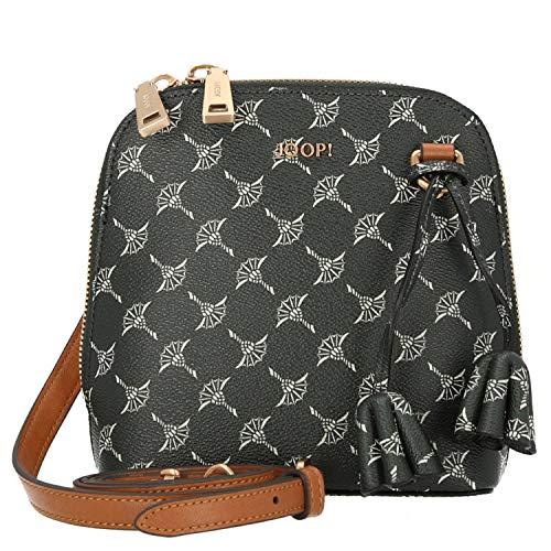 Joop! Schultertasche Cortina Livia aus Kunststoff Damen Handtasche mit Reißverschluss, Grün (Darkgreen), 8x17x16.5 cm (B x H x T)