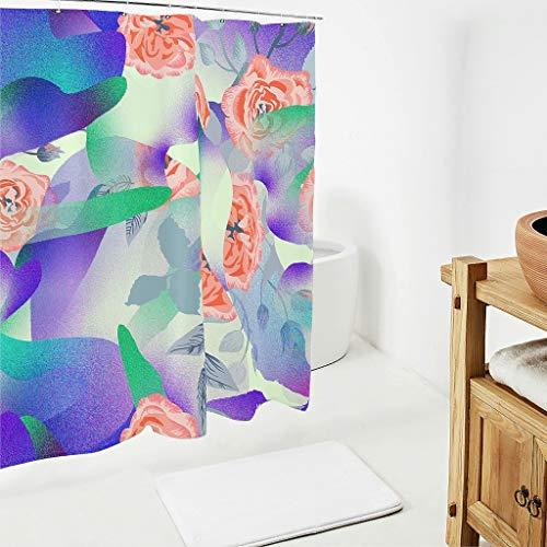 Zhcon verzamelaar Duschvorhänge Modern Schimmel weerbestendig douchegordijn Bad Vorhang mit inkl Duschvorhangringen
