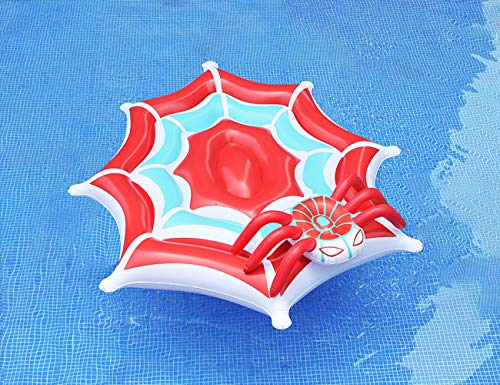 Pool Float, CMYK Spider Web Giant Pool Float, Summer Beach Lounge Raft,...