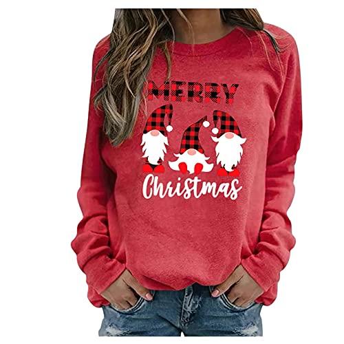 HHOP Weihnachten Oberteil sexy damenshirts lässig Kurzarm Oversize sexy Pullover Damen Kapuzenpullover Hoodie blusen & Tuniken damskie kardigany i swetry Sommer Bluse Oberteil elegant