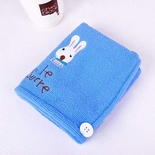 Xiaobing Toalla de baño de Microfibra de Estilo Lindo Gorro de Ducha de Toalla de baño Suave de Secado rápido para Mujer -Azul-B5