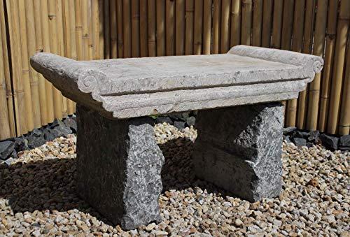 Asien Lifestyle Asiatische Gartenbank (106cm) Steinbank Altartisch - Unikat