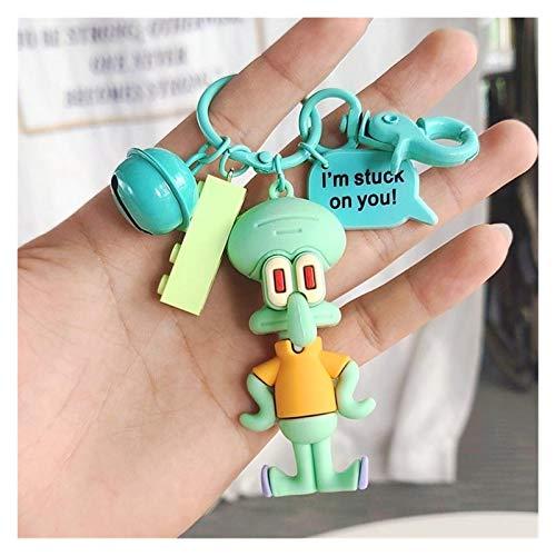 Cartoon Schlüsselbund Beliebte Karikatur weiche Gummi-Puppe Keychain Nette Frau Geschenk Schlüsselanhänger Tasche Anhänger Puppe Schmuck Dekoration Schlüsselanhänger (Color : Red)