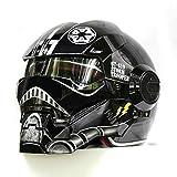 YOBAIH Cascos De Moto Negro Iron Man Casco de la Estrella Ca