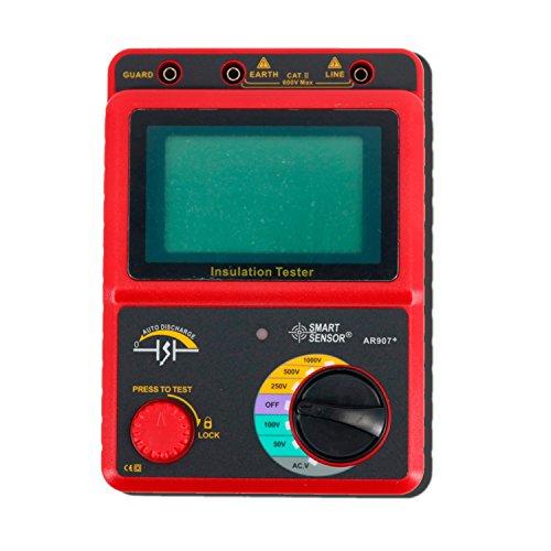 Digital 100~2500 V Digitale Hochspannungsisolationstester Megohmmeter AC/DC Spannungsprüfer Ohm Meter AR907A + präzise