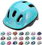 Casco Bicicleta Bebe Helmet Bici Ciclismo para Niño - Cascos para Infantil Bici Helmet para Patinete Ciclismo Montaña BMX Carretera Skate Patines monopatines MV6-2 (XS(44-48cm), Flower)