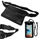 Wise Owl Outfitters Waterproof Cell Phone Dry Bag & Phone Case For Men & Women - Fanny Pack Pouch Waist Bag for Swimming, Boating, and at the Beach