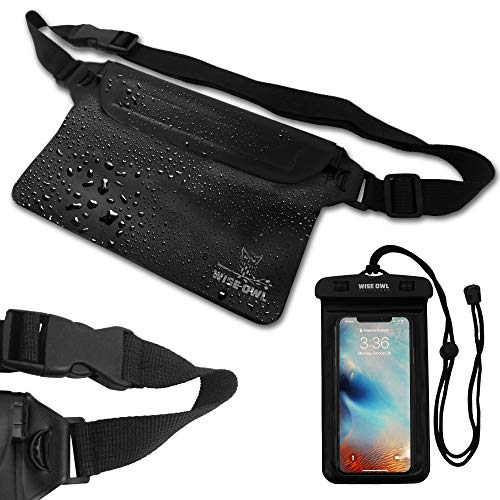 Wise Owl Outfitters Waterproof Cell Phone Dry Bag & Phone Case For Men & Women - Fanny Pack Pouch...