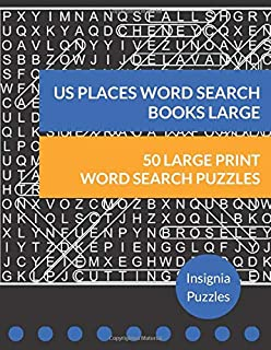 US Places Word Search Books Large: One Puzzle Per Page