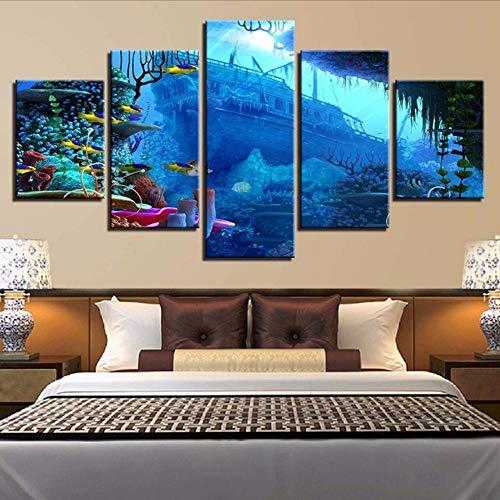 Cczxfcc canvas met print voor Home Decoration, 5 stuks 40x60/80/100cm-nessuna Cornice