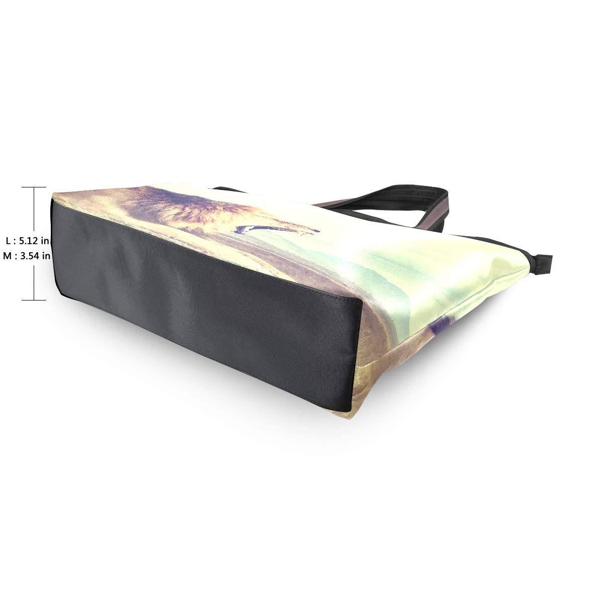 HousingMart Large Women Tote Bag Cool Lion 3D Print Handbags Tote Handle with Zipper Shoulder Bag Grocery Shopping Work Bag