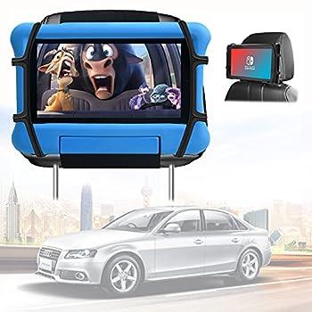 Headrest Tablet Holder for Car Universal Tablet Car Holder Kids Tablet Car Mount Compatible with iPad Car Holder Back Seat Angle-Adjustable/ Fits Switch& All 7-10.5 Inch Tablets