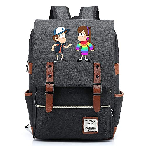Anime Gravity Falls School College Bag Mochila Informal Se Adapta a hasta 15.6'Mochila para computadora portátil Impermeable M-14inch Color-05