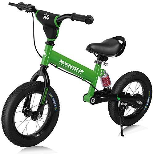 Deuba Rennmeister Laufrad   pneum. Breitreifen   Handbremse   Anti-Shock   Lenkerpolster   Kinder Fahrrad Lauflern Rad Balance Bike 12