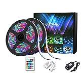 Luces LED de colore habitacion habitación RGB impermeable 24key 5m control remoto Gift TV hogar, armario, dormitorio.