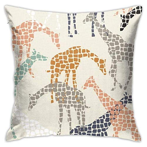 Lucky girlfriend Africa Africa Pillowcase Square Soft Plush Home Sofa Bed Car Decoration Pillowcase Cushion Cover -Include Insert 18'X 18' Inches