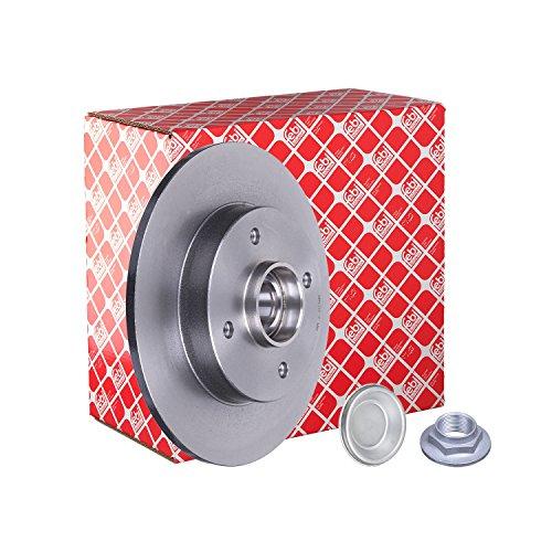 Preisvergleich Produktbild febi bilstein 32782 Bremsscheibe mit Radlager und ABS Impulsring (1 Bremsscheibe) hinten,  voll,  Lochanzahl 4