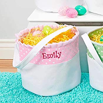 Personalized Soft and Light Easter Basket  Baby Pink