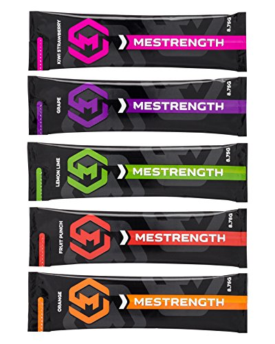 Mestrength Electrolyte Drink Mix - A Naturally Flavored, Sugar Free, Hydration Powder (Mixed Flavors, 30 Single Serve Stick Packs)