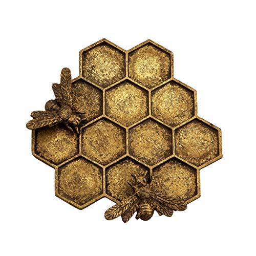 Sass & Belle Gold Honeycomb Bee Trinket Dish