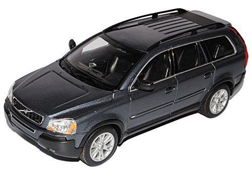 Welly Volvo XC90 Grau SUV 1. Generation 2002-2015 1/24 Modell Auto mit individiuellem Wunschkennzeichen