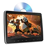 10.1' Headrest DVD Player, Car DVD Player for Back Seat Entertainment 1080P HD, Touch Screen, Automatic-Top-Loading Suction Drive, Support CD/DVD/USB/TF/MP4, with Remote Control