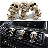 Ghost Head Coche Clip Ventilación, Vent Air Slip Charm Gothic Skull Car Outlet Outlet Fishener Horror Skeleton Aromatherapy Coche Difusor Clips Para El Interior Del Automóvil Aromatherapy Decoration
