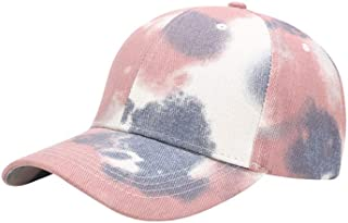 Romacci Women Unisex Hat Tie-dye Baseball Cap Outdoor Leisure Shade Snap Flat