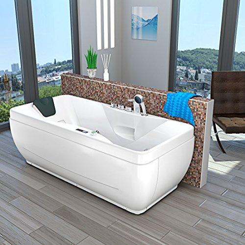 AcquaVapore Whirlpool Vollausstattung Pool Badewanne Wanne A1149-PL 170x80cm, Sonderfunktion1:mit Heizung +70.-EUR, Selfclean:aktive Schlauch-Reinigung +90.-EUR