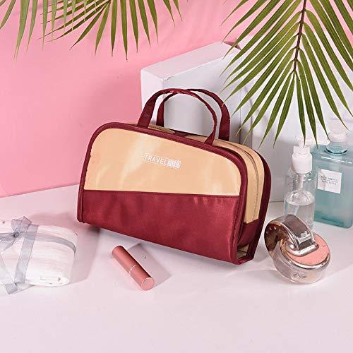 Sac cosmétique petit portable simple de grande capacité cas cosmétique fille coeur coeur sac de rangement cosmétique E