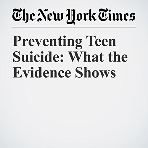 Preventing Teen Suicide: What the Evidence Shows copertina