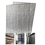 LJIANW Vela de Sombra Toldo Vela, Doble Aluminio Lámina De Burbujas Película De Aislamiento Habitación Sun Placa De Sombreado Enfriamiento 5 ° para Loft, Piso, Casa Rodante, Sala De Cristal, Balcón