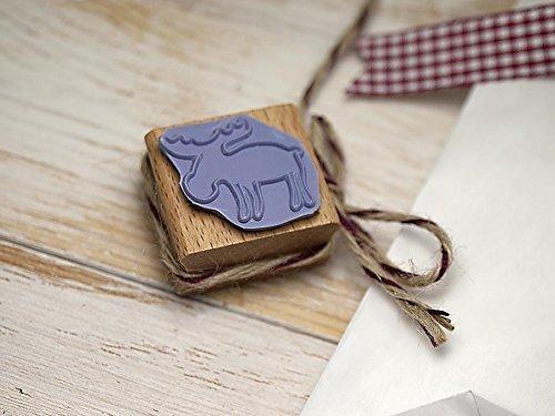 Stempel Elch Weihnachten zum Basteln, DIY, Geschenkverpackung Scrapbooking, handmade