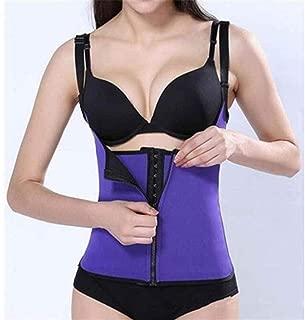 RZDJ Waist Trainer Corset Latex Modeling Strap Underwear Body Shaper Corsets for Women Slimming Sheath Belly Belt Shapewear Top Vest (Color : Purple, Size : XL)