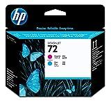 HP 72 Testina di Stampa per Magenta e Ciano C9383A, Originale, per Stampanti Plotter HP De...
