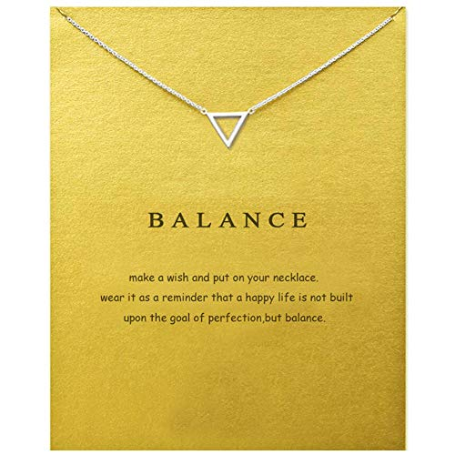 LANG XUAN Message Card Compass Pendant Necklace Friendship Starfish Good Luck Elephant Pendant Chain Necklace with Gift Card