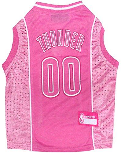 NBA OKC Thunder Hunde-Trikot, Größe L, Rosa