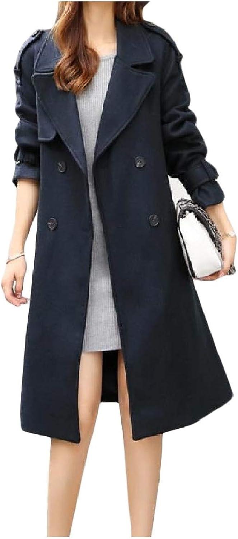 Spodat Women Commute Jackets Belted SingleBreasted Lapel Collar Trench Coat Jacket