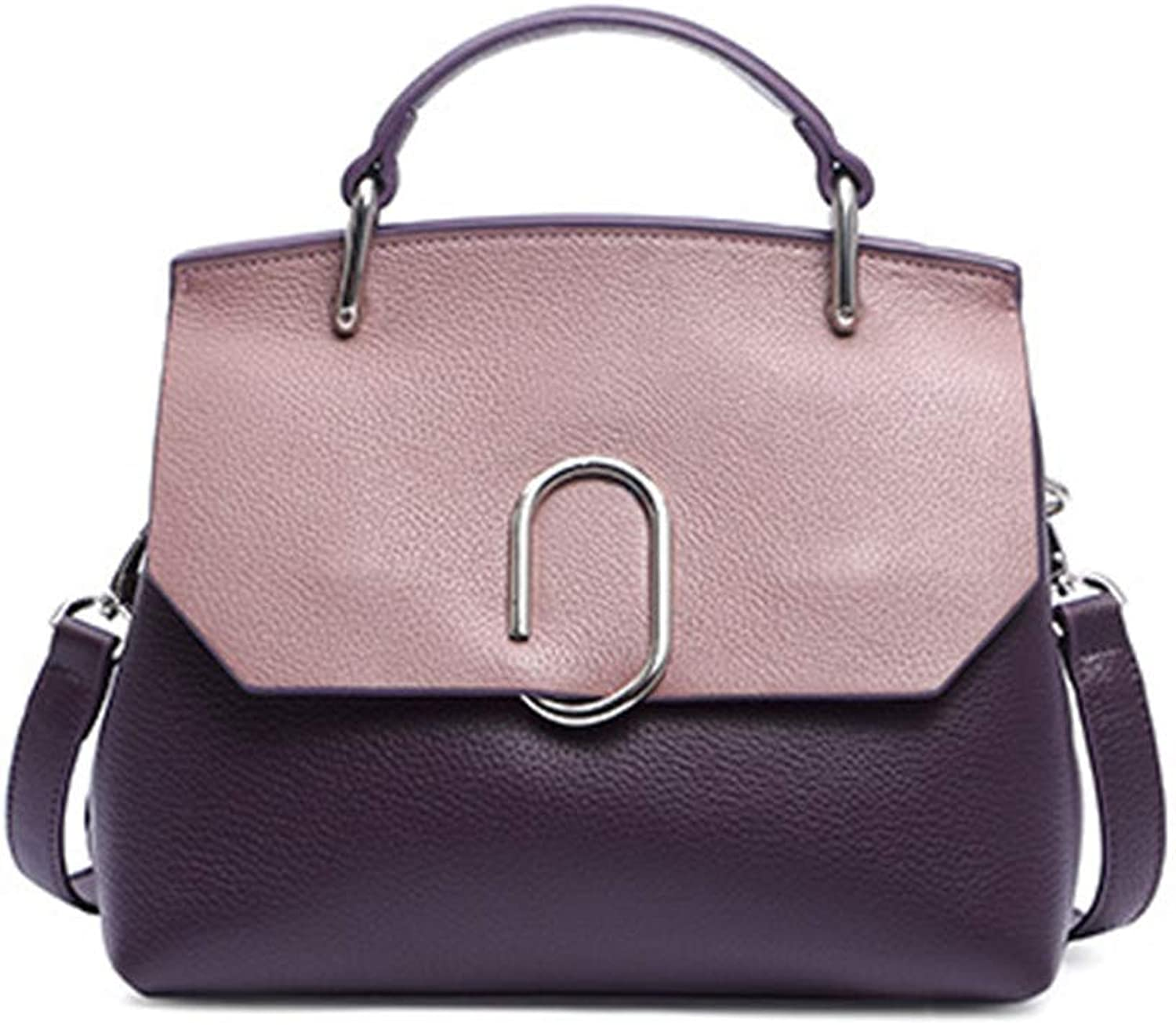 Sturdy Fashian Wild Handbags Handbags Shoulder Diagonal Package Elegant Casual Style Multicolor Choice Durable Large Capacity (color   Purple)