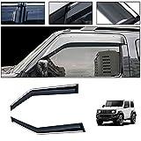 saitake Windabweiser Für Suzuki Jimny 2007-2019 Autofenster Visier Sonne Regen Rauchabzug Schatten Klebeband Außenvisiere