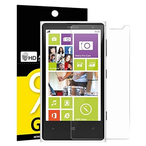 NEW'C Vetro Temperato per Nokia Lumia 1020, Pellicola Prottetiva Anti Graffio, Anti-Impronte, Senza Bolle, Durezza 9H, 0,33mm Ultra Trasparente, Ultra Resistente