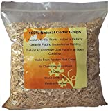 100% Natural Cedar Chips | Mulch | Great for Outdoors or Indoor Potted...