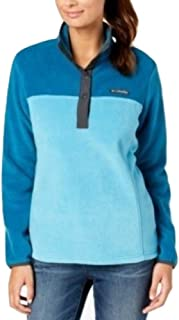 Columbia Three Lakes Half Snap Pullover Jacket - Blue - XL - Columbia