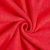 Fabulous Fabrics Fleece signalrot, Uni, 150cm breit –