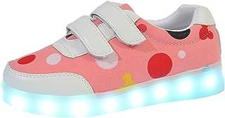 ModaParis Toddler Boys Girls Breathable LED Light Up Flashing Casual Shoes Flat Sneakers for Children