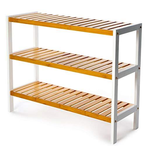 Vencier 3 Tier Bamboo Shoe Rack Stand Shelf Shelving...