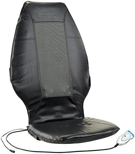 newgen medicals Massage-Sitzauflage Auto: Premium-Massageauflage MA-400 mit IR-Tiefenwärme 230V/12V (Shiatsu-Massage-Sitzauflagen Auto)