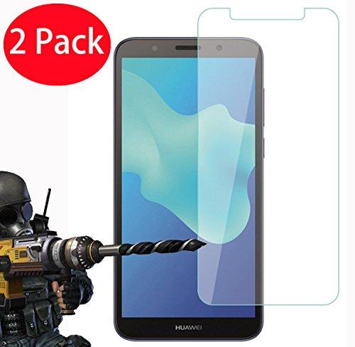 2 Pack – Huawei Y5 2018 / Y5 Prime 2018 Protector de Pantalla, FoneExpert Ultra Tanque Transparente…